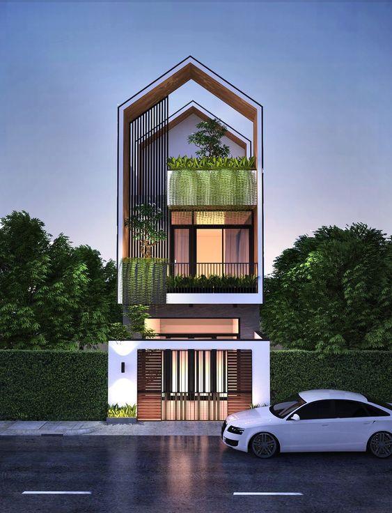 Mẫu thiết kế nhà phố 3 tầng mặt tiền 7m hiện đại