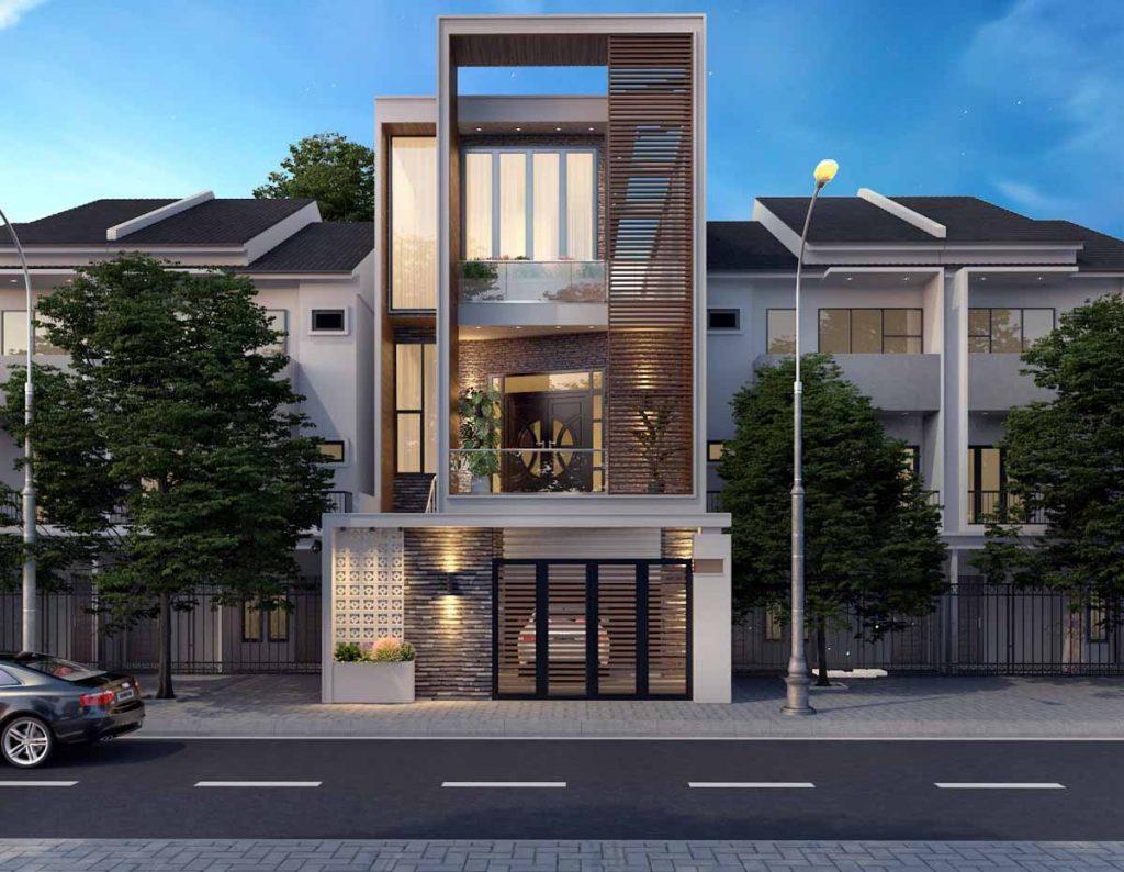 Mẫu nhà phố 3 tầng mặt tiền 6m độc đáo đẹp